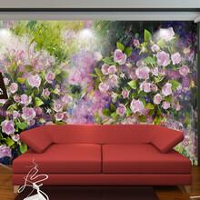 3d立体中式电视瓷砖背景墙影视壁画客厅卧室集成板背景墙