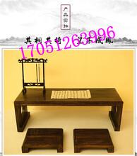 厂家直销幼儿园国学课桌实木中式仿古儿童培训班书法教室学生双人书画桌椅
