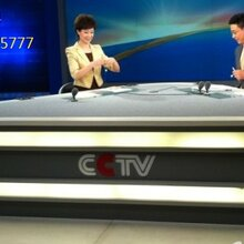 电视台直播桌,访谈桌,演播桌,量身定做图片