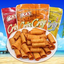 进口伊咔斯IKAS鱼卷55g虾味原味鱿鱼味卷鱼肉卷休闲零食图片