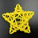 新品藤球五角星造型藤球装饰美观圣诞家居装饰品