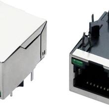 网线接口RJ45滤波器插座,带灯RJ45带屏蔽罩百兆100M图片