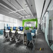 商务灰与自然绿绘出达蒙安防的办公室设计