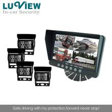 车载四分割系统,车载分割后视系统,公交车后视系统,监控系统修改