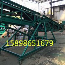 矿用重型皮带输送机定制爬坡橡胶传送带绿色PVC传送机服装分拣流水线图片
