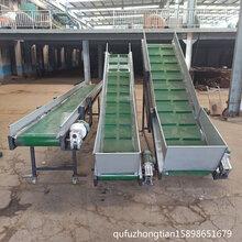 粮食装仓皮带输送机耐磨皮带输送机矿用重型皮带机大倾角带式机图片