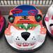 儿童奶牛老虎碰碰车冰上彩灯玩具车双人户外遥控车