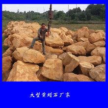 大型黄蜡石厂家宏业奇石场长期供应黄蜡石景观石等