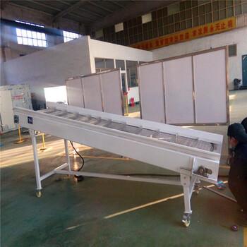 白色网带输送机挡板式网带输送机提升式网带输送机