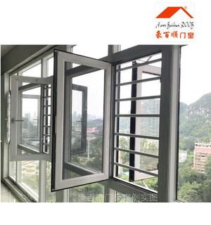 嘉兴铝窗铝合金门窗_80断桥窗纱一体价格图片3