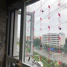 阜阳铝合金玻璃门窗_100平开窗纱一体图片