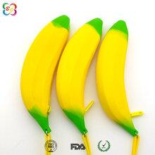 东莞博高韩版风范硅胶文具批发,供应香蕉笔袋硅胶有现模