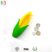 硅胶制品厂家供应硅胶玉米零钱包-玉米硅胶笔袋拉链包
