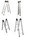 石家庄生产铝合金伸缩单直梯铝合金关节梯折叠梯