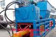 陕西省废纸壳液压打包机160型牧草秸秆打包机自动上料捆扎打捆机设备