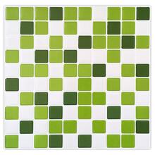 专业定制墙贴方块白绿色马赛克墙贴厨房餐厅的经典首选家居墙贴装饰贴图片