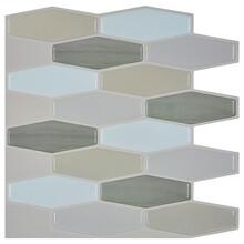 墙纸厂家六角钻石马赛克瓷砖可移自粘3D立体墙贴滴胶墙纸拼图背景墙图片