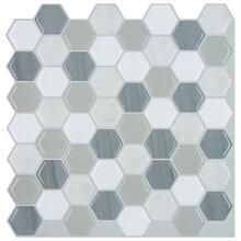 墙贴墙纸六边形翡翠绿马赛克瓷砖墙贴235243mm创意墙贴生产厂家