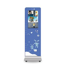 21.5寸幼兒園考勤機幼教刷卡接送機立式考勤機