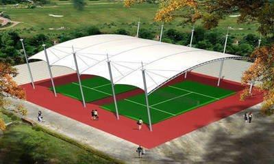 贵州体育场膜结构,看台膜结构网球场膜结构