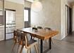 订制批发家用饭桌实木组合实木桌椅不规则边桌子loft美式复古餐桌
