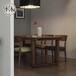 定制批发家用简约现代实木长方形饭店桌子订制餐桌组合小户?#22836;?#26700;