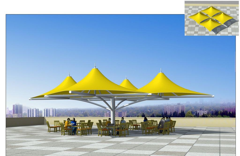供应膜结构看台,膜结构车棚,景观张拉膜,网球场膜结构