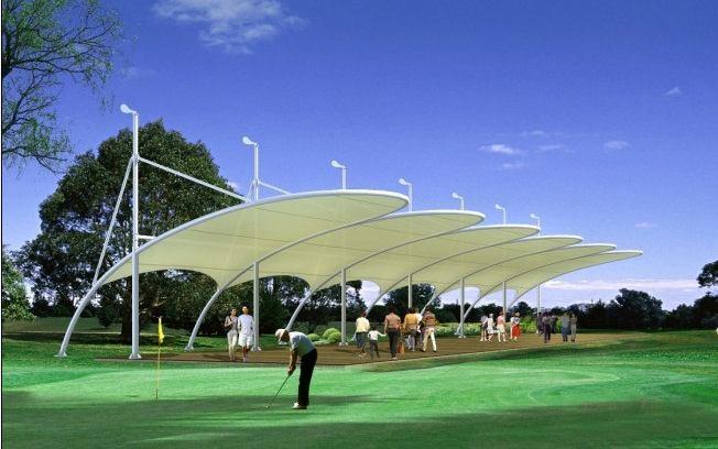 湖南户外网球场膜结构排球场膜结构羽毛球馆顶棚篮球场顶棚膜结构