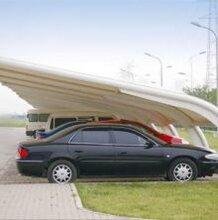 膜结构车棚七字形膜结构停车棚汽车棚电动车棚自行车遮阳棚