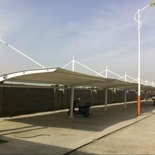 膜结构车蓬钢结构雨篷小汽车停车蓬拉膜车棚设计制作