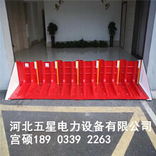 城市應急防汛擋水,快速搭建擋水墻,紅色L型擋水板圖片