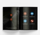 深圳龙岗展会画册排版设计,公司彩页宣传单设计印刷