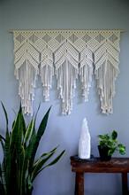 厂家直销手工编织挂毯棉绳打结编织镂空墙挂手工羊毛挂毯波西米亚挂饰