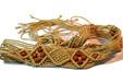 厂家直销蜡绳编织镂空腰带棉绳打结编织腰链皮条编织腰带手工编织腰带布条编织腰带