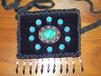 厂家直销金丝绒珠绣手袋金丝绒钉珠手机包丝绒串珠包真丝绣珠包