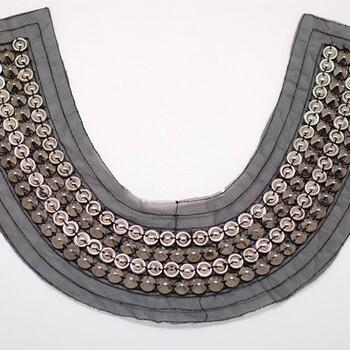 珍珠串珠假领子