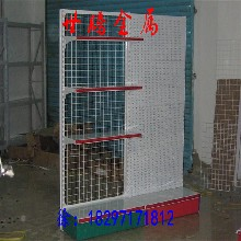青海世腾供应中型超市货架金属展示架双面超市货架