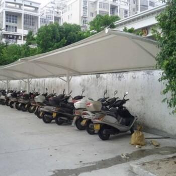 设计制造公交站遮雨棚膜结构电动充电桩户外遮阳汽车棚