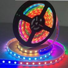 恒源彩光科技5v60灯断点续传LED灯带内置ic1914幻彩软灯带图片
