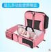 日本熱銷便攜嬰兒床可折疊手提外出新生初生寶寶床中床圖片及價格