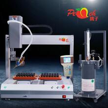 桃子点胶机生产厂家供应TZ5331双平台旋转点胶机全自动图片