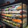 水果店节能不锈钢喷雾风幕展示柜-厂家订制价格