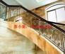 室内高档铝艺楼梯护栏高端弧形护栏装修效果图