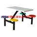 西安世腾厂家供应玻璃钢餐桌椅学校员工食堂用