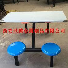 陕西西安4人位餐桌条形凳大排档快餐店用世腾厂家直销