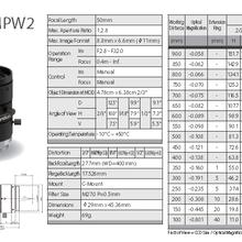 computar镜头五百万工业镜头全系列低价供应M1620-MPW2图片