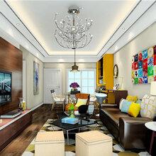 家庭装修客厅安装水晶灯!简直美呆了~大连易居装饰