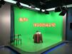 真三維演播室新聞虛擬演播室背景主持人藍箱摳像背景素材