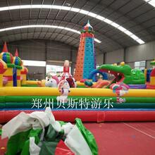 广东潮州充气城堡大滑梯材料好做工佳图片