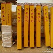 玻璃钢pvc标志桩电力电缆燃气警示桩水管电力标志桩地桩